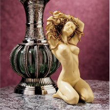 The Temptation of Medusa Figurine in Faux Ivory and Gold