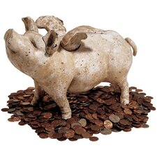 Authentic When Pigs Fly Foundry Medium Piggy Bank