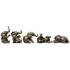 The Five Playful Pachyderms Figurines