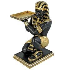 Egyptian Pharaoh's Kneeling Nubian Servant End Table