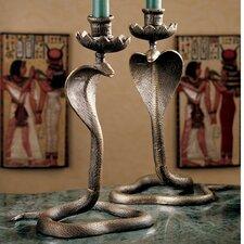 Uraeus Royal Egyptian Cobra Foundry Candlestick