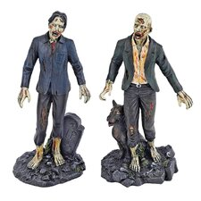 Dead Walking Zombie 2 Piece Figurine Set