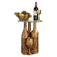 Wine and Dine Sculptural End Table