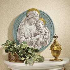 Madonna and Child Roundel Wall Décor