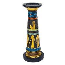 Temple of Luxor Sculptural Egyptian Amenhotep Candleholder