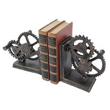 Industrial Gear Sculptural Iron Book End (Set of 2)