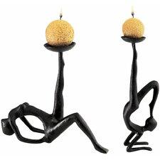 Les Acrobates Sculptural 2 Piece Candleholder Set