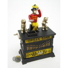 Authentic Organ Grinder's Performing Monkey Foundry Mechanical Piggy Bank