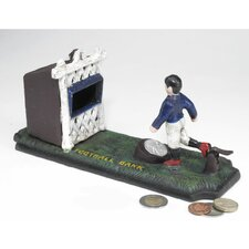 Authentic Old-Fashioned Footballer Foundry Mechanical Piggy Bank