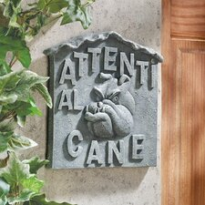 "Beware of Dog Italian ""Attenti al Cane"" Wall Décor"