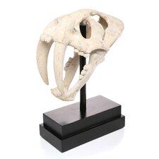 Saber-Toothed Tiger Skull Artifact Figurine