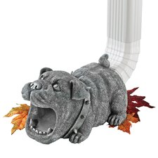 Butch the Bulldog Gutter Guardian Downspout Statue