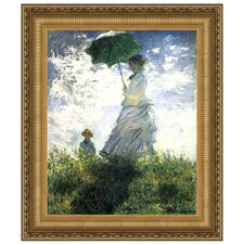 Woman with a Parasol, 1875 by Claude Monet Framed Painting Print