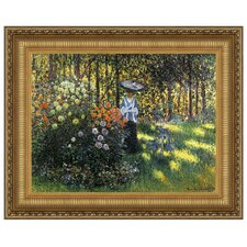 Woman with a Parasol in the Garden in Argenteuil, 1875 by Claude Monet Framed Painting Print