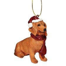 Dachshund Holiday Dog Ornament Sculpture