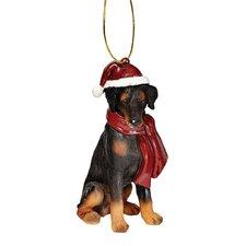 Doberman Holiday Dog Ornament