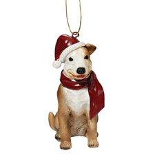 Pitbull Holiday Dog Ornament