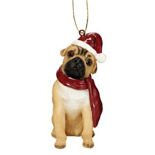 Pug Holiday Dog Ornament Sculpture