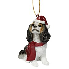 Charles Cavalier Holiday Dog Ornament Sculpture