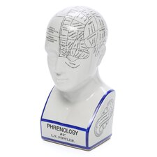 Phrenology Head Figurine