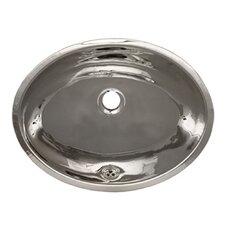 Decorative Undermount Smooth Oval Bathroom Sink