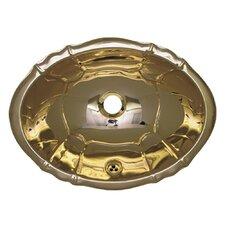 Decorative Smooth Oval  Bathroom Sink