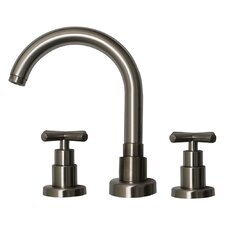 Luxe Widespread Bathroom Faucet with Double Cross Handles