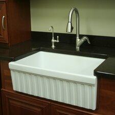"""FarmhausQuatro 30"""" x 20"""" x 10"""" Single Bowl Farmhouse Kitchen Sink"""