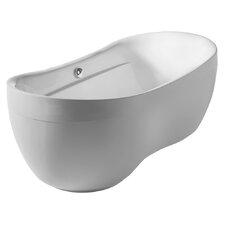 "Bathhaus 70.87"" x 35.5"" Freestanding Bathtub"