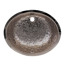 Oval Hammered Textured Undermount Basin with Overflow