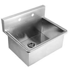 "Noah's 25"" x 19.5"" Stainless Steel Commercial Drop-In Laundry-Scrub Kitchen Sink"