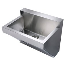 """Noah's 30"""" x 22.25"""" Stainless Steel Commercial Wall Hung Laundry-Scrub Kitchen Sink"""