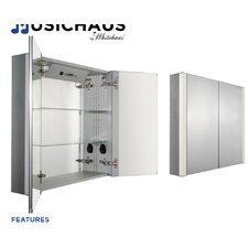 """Musichaus 27"""" x 31.5"""" Surface Mount Medicine Cabinet"""