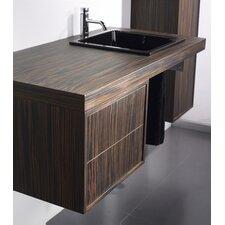 Aeri Single Wood Unit Bathroom Vanity Set with Double Drawer