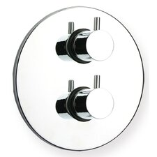 Luxe Thermostatic Valve with Round Plate