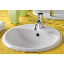China Blu Round Bathroom Sink with Overflow