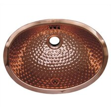 Decorative Undermount Oval Ball Pein Bathroom Sink