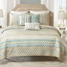 Paige 6 Piece Quilted Coverlet Set