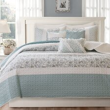 Dawn 6 Piece Quilted Coverlet Set
