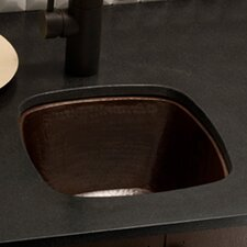 """13"""" x 13"""" Small Square Hand Hammered Bar Sink"""