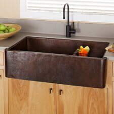 "Farmhouse 40"" x 22"" Duet Pro Copper Kitchen Sink"