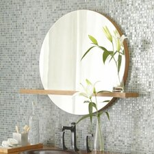 """Solace 28"""" Mirror with Shelf in Caramel Bamboo"""