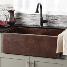 "Farmhouse 33"" x 22"" Duet Copper Kitchen Sink"