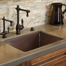 "Cocina 24"" x 18"" Copper Kitchen Sink"