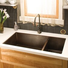 "Cocina 40"" x 22"" Duet Pro Copper Kitchen Sink"