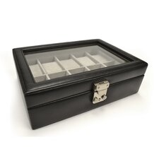 Luxury 10 Slot Watch Jewelry Box in Genuine Leather