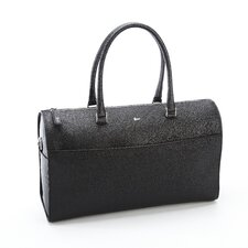 Saffiano Leather Carry On Travel Duffle Barrel Bag