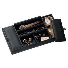 Luxury Genuine Leather Valet Dresser Tray for Jewelry Storage