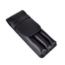 Genuine Leather Triple Pen Case
