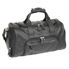 "Genuine Leather 17.5"" Sports Duffel Carry-on Bag"